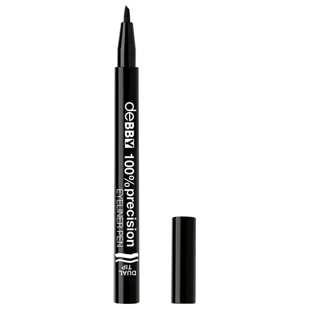 <p><strong>100%precision </strong>EYELINER PEN <strong>DUAL TIP</strong></p>