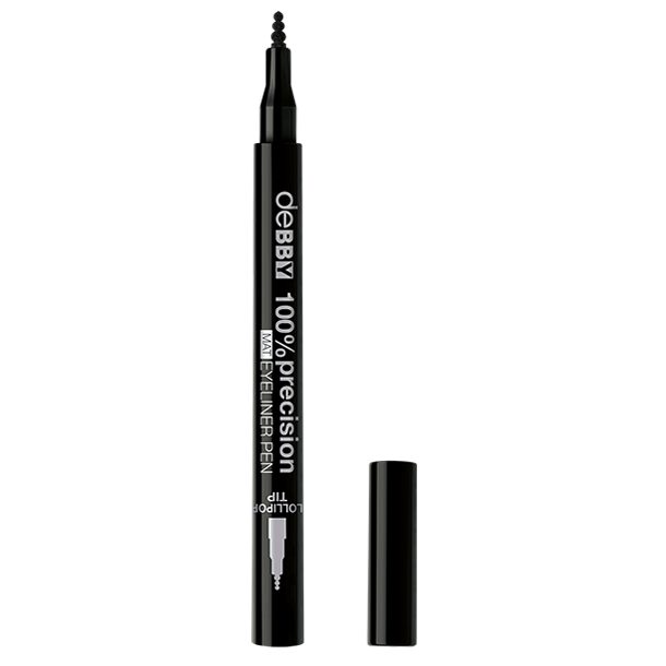 <p><strong>100%precision</strong> <strong>MAT</strong> EYELINER PEN</p>